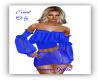 Leather Skirt Blue