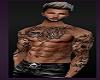 Male Tattoo Guy Black Leather Pants