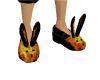 Fire Bunny Slippers