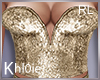 K gold sparkle top