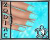 Snowflake Blue Nails