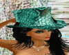 green lace top hat