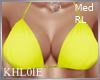 K yellow bikini top RL