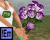 !Em Purple&White Roses7P