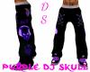 Purple Dj Skull Pnt  M
