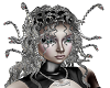 Silver animated medusa