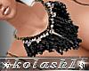 K*New Necklace Black net