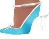 Stas-Teal/White Heels