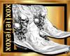 [L] Skull White Boots M