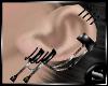 !S! PVC silver earcuffs