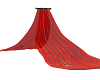 Sheer Red Bed Drape