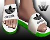 #F Sandals Green