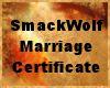 SmackWolf Wed Cert.