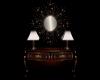 Mesa de Caoba con Espejo