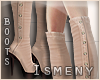 [Is] Suede Boots Nude