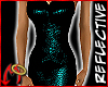 Metal Dress Teal