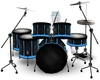 Black and Blue Drumset