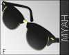 & Shiny Glasses Gold