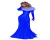 Royal Blue Fur Dress
