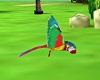 Dynamic Fly parrot bird