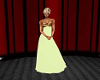 cream evening dress