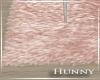 H. Rose Gold Fur Rug