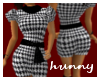 Houndstooth Dress w/ Tie