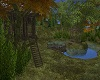 Hut Of Lake In Autumn