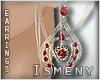 [Is] Ruby Earrings