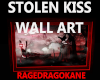 STOLEN KISS WALL ART