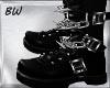 Black Goth Chain Boots
