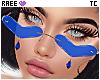 ®Tc. ❤ Glasses Blue