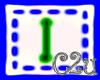 C2u letter I Sticker