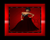 Royaljewl red n blk gown