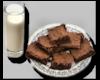 {B}Brownies and Milk