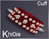 K red devil spike cuff