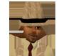cream gator skin hat
