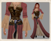 Norse red corset dress