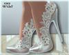 J | White Lacy Shoes