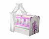 Pink & White Crib