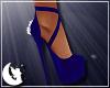 {M} Blue Xmas Heels