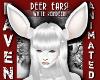 WHITE REINDEER EARS!