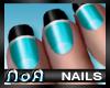 *NoA*Nails Blue/ Black