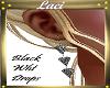 ~L~Blk Wht 3 Drop Earing