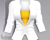 ! L! White Yellow Jacket