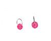 Pink xmas earrings