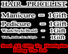 Hair PriceList Sign