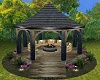 ~CR~Rustic Wood Gazebo