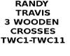 3 WOODEBN CROSSES
