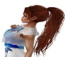 wild auburn ponytail